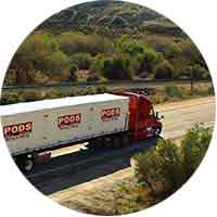 PODS long distance moving logistics